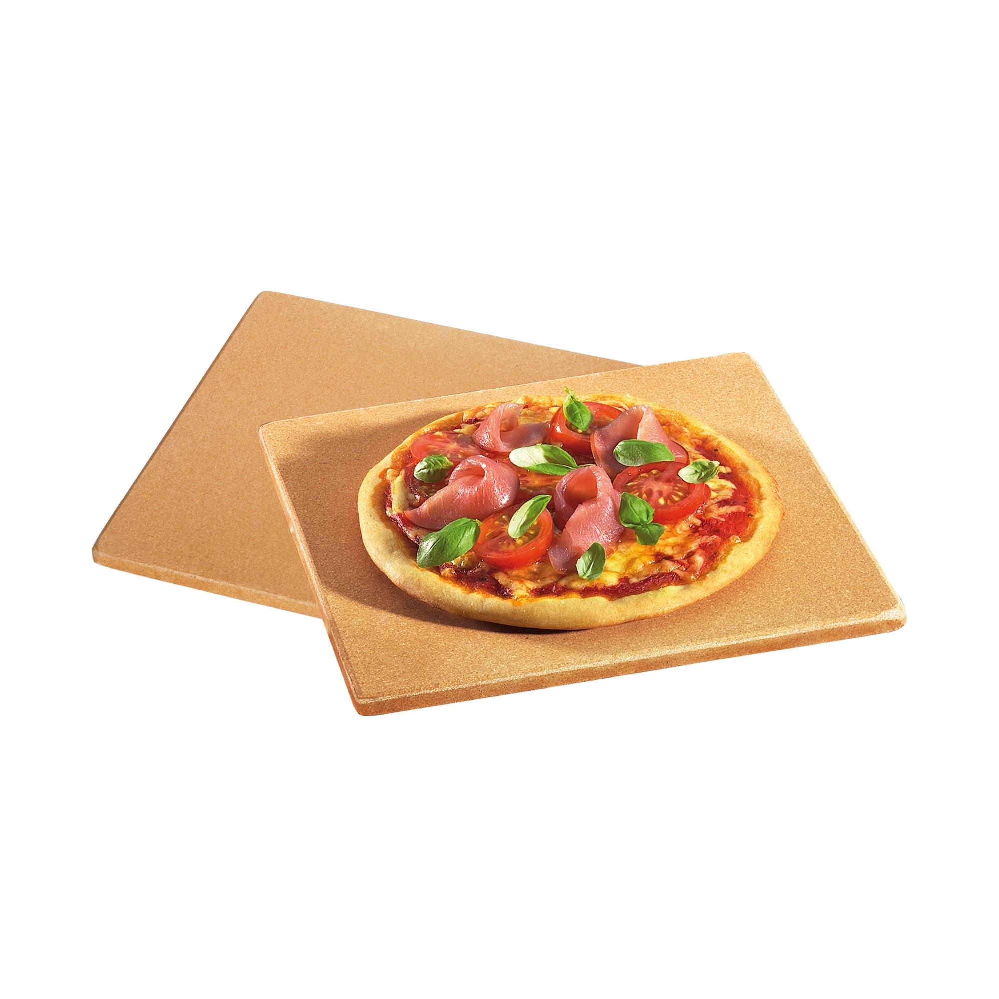 KÜCHENPROFI Mini Pizzastein 2er Set 19 x 19 cm Grillstein