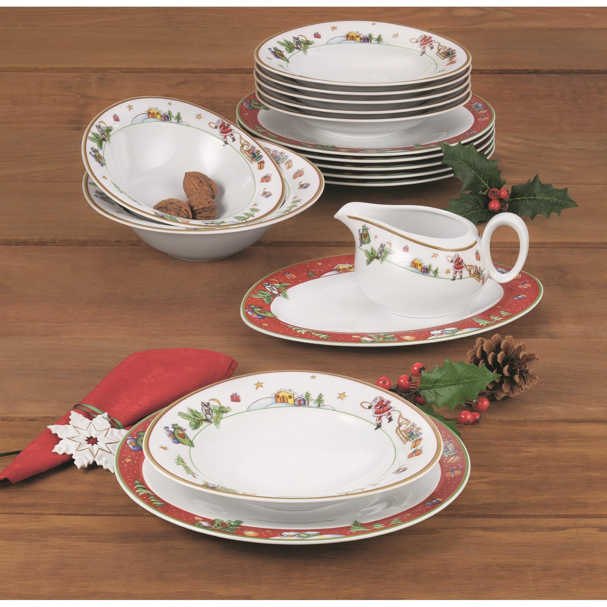 seltmann weiden trio weihnachten tafelservice 16 teilig. Black Bedroom Furniture Sets. Home Design Ideas