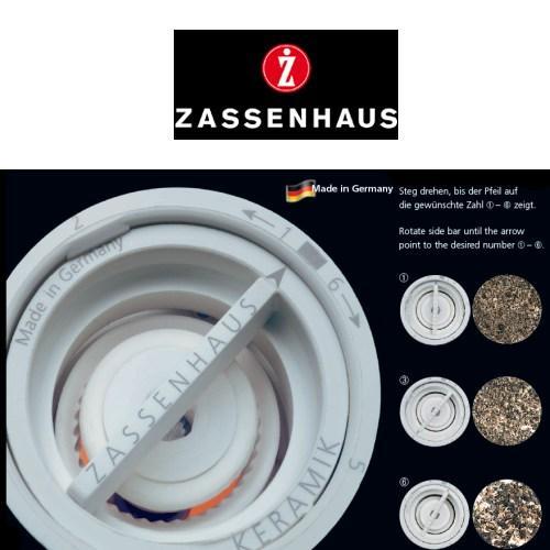 zassenhaus serie rostock pfefferm hle mit kurbel wenge. Black Bedroom Furniture Sets. Home Design Ideas