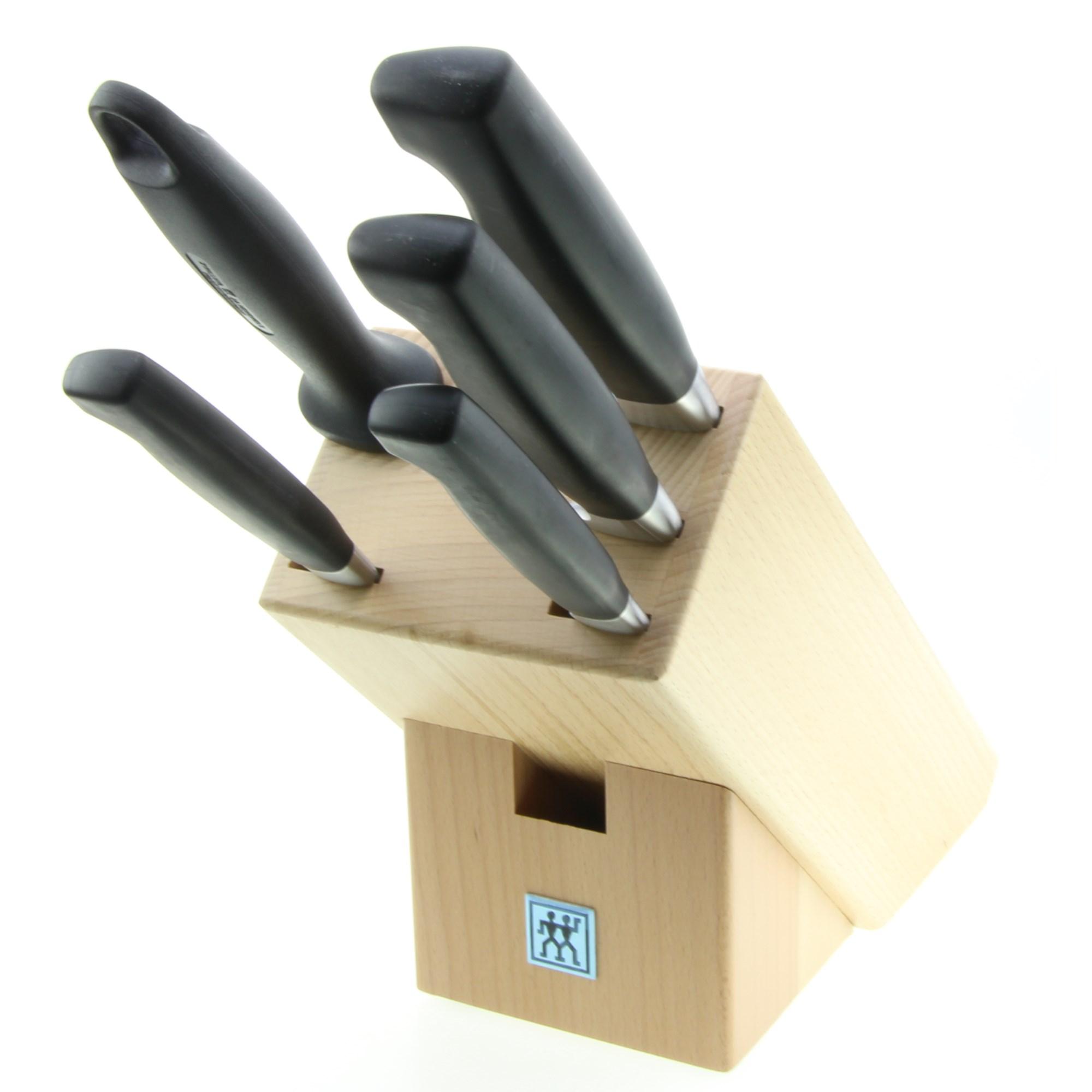 zwilling messerblock vier sterne 6 teilig messerset ebay. Black Bedroom Furniture Sets. Home Design Ideas
