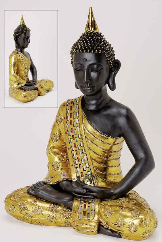 8800 riesiger deko thailand gold buddha figur statue skulptur feng shui 65 cm ebay. Black Bedroom Furniture Sets. Home Design Ideas