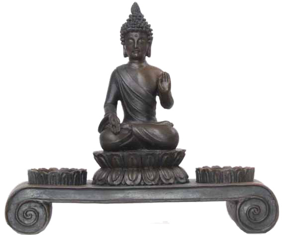 2118a deko asien teelichthalter buddha figur statue skulptur feng shui neu ebay. Black Bedroom Furniture Sets. Home Design Ideas