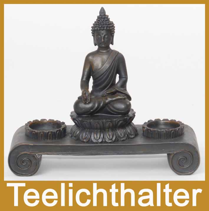2118b deko asien teelichthalter buddha figur statue skulptur feng shui neu ebay. Black Bedroom Furniture Sets. Home Design Ideas