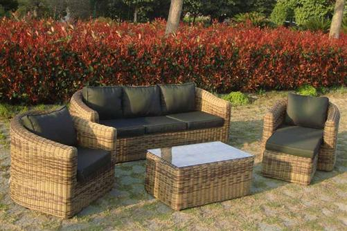 polyrattan gartenm bel poly rattan lounge tampa garnitur sitzgruppe alu braun ebay. Black Bedroom Furniture Sets. Home Design Ideas