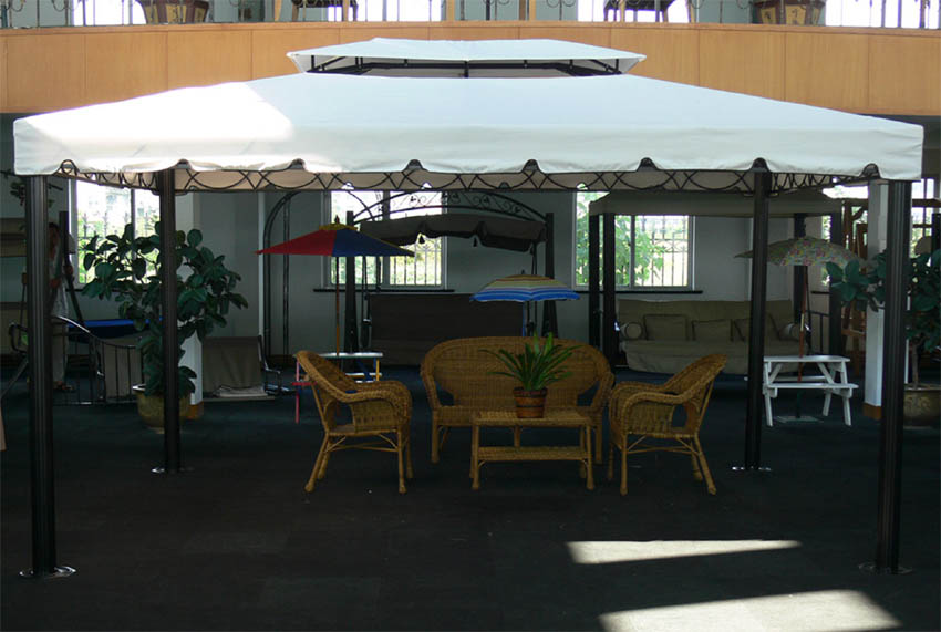 3x4 m garten pavillon malaga partyzelt pavillion alu pfosten gazebo gartenzelt ebay. Black Bedroom Furniture Sets. Home Design Ideas