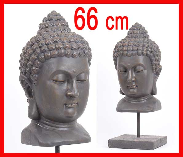 0917 riesiger deko asien garten buddha kopf figur statue feng shui 66cm neu ebay. Black Bedroom Furniture Sets. Home Design Ideas