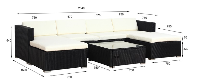 xxl poly rattan garten lounge gartenset schwarz garnitur. Black Bedroom Furniture Sets. Home Design Ideas