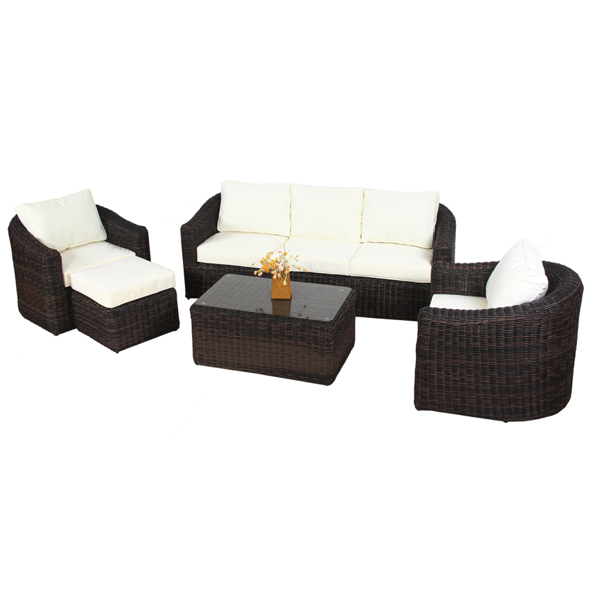 polyrattan gartenm bel poly rattan lounge tampa garnitur. Black Bedroom Furniture Sets. Home Design Ideas