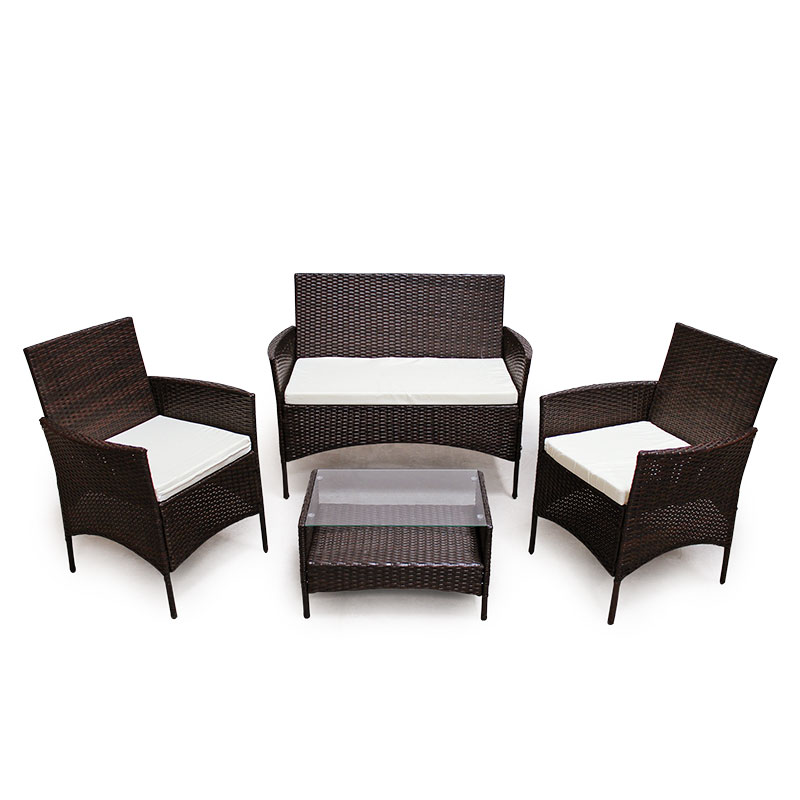 953 poly rattan braun lounge sofa garnitur polyrattan sitzgruppe gartenm bel ebay. Black Bedroom Furniture Sets. Home Design Ideas