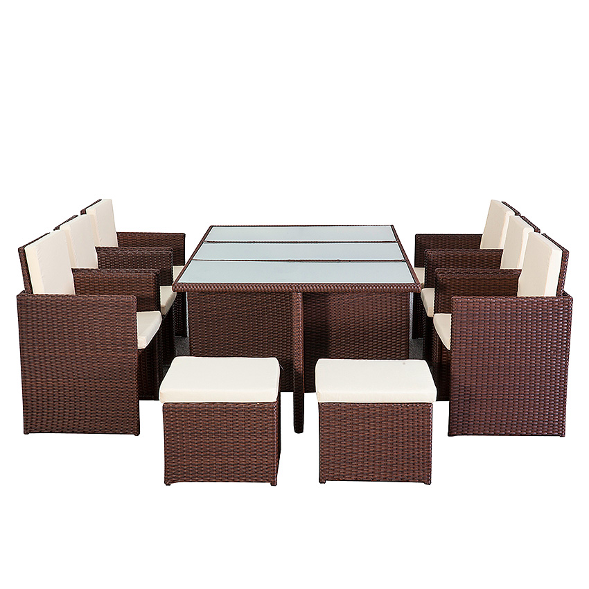 poly rattan essgruppe firenze lounge garten garnitur. Black Bedroom Furniture Sets. Home Design Ideas