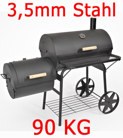 massiver smoker bbq grillwagen holzkohle grill lokomotive ca 90kg 3 5mm stahl ebay. Black Bedroom Furniture Sets. Home Design Ideas