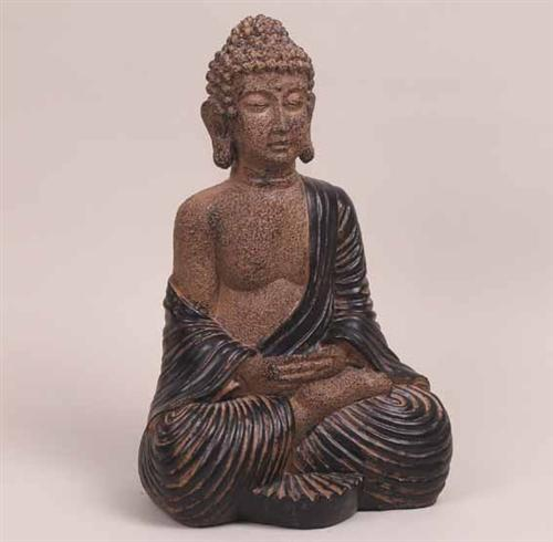 166 39cm deko buddha garten figur statue skulptur asien. Black Bedroom Furniture Sets. Home Design Ideas