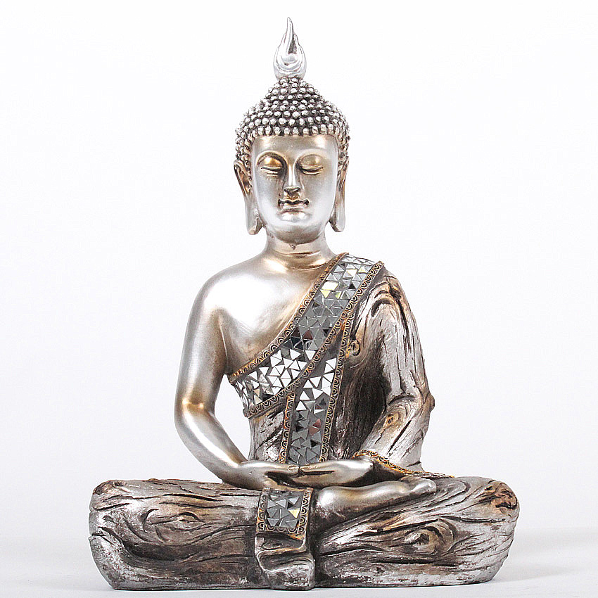 xl gro e deko asien garten buddha figur statue skulptur feng shui neu 35 cm ebay. Black Bedroom Furniture Sets. Home Design Ideas