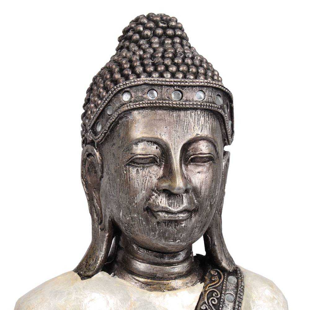 buddha stehend deko figur asien statue skulptur 90cm gro tempel w chter details ebay. Black Bedroom Furniture Sets. Home Design Ideas