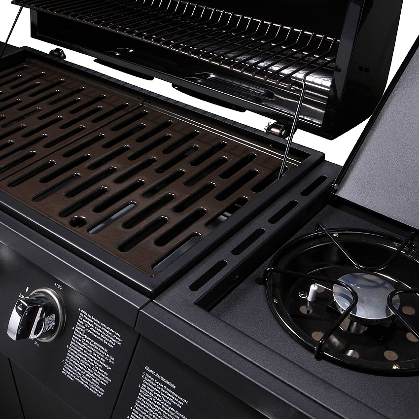 taino gasgrill bbq grillwagen wahlweise im set mit. Black Bedroom Furniture Sets. Home Design Ideas