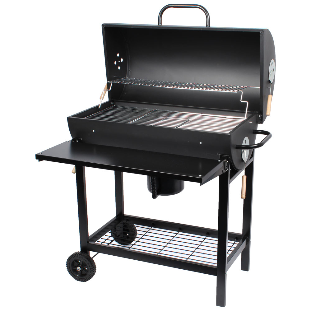 smoker grill bbq grillwagen holzkohle grill neu standgrill ablagen ebay. Black Bedroom Furniture Sets. Home Design Ideas