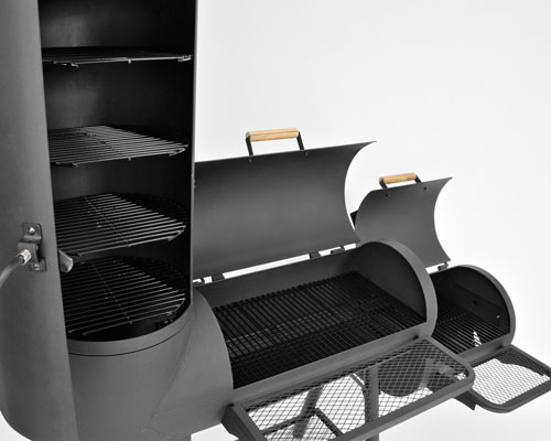 smoker bbq grillwagen grillkamin r ucherofen holzkohle. Black Bedroom Furniture Sets. Home Design Ideas