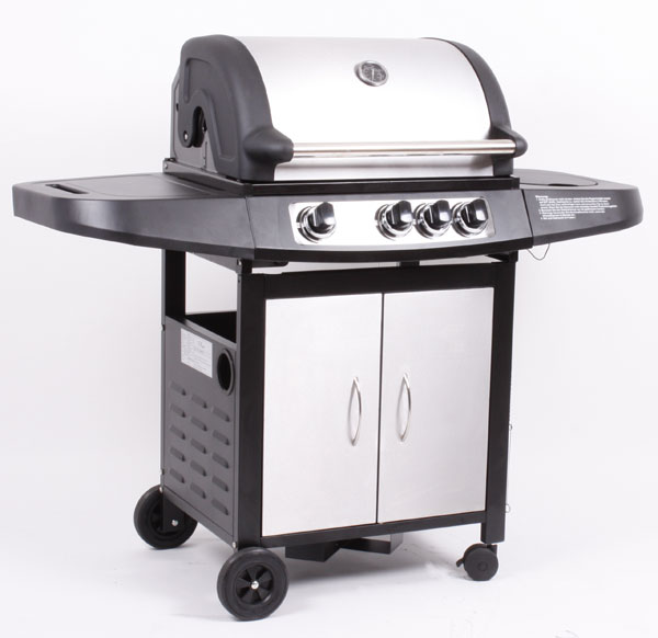 profi edelstahl gas grill gasgrill grillwagen bbq 3 1 ebay. Black Bedroom Furniture Sets. Home Design Ideas