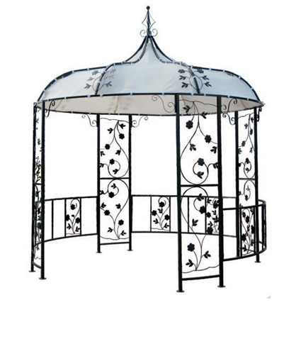3x3m pavillon romantik pavillion metall gazebo neu ebay. Black Bedroom Furniture Sets. Home Design Ideas