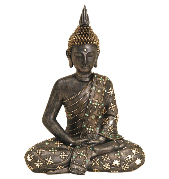 8670 42cm deko thailand buddha figur statue skulptur feng shui asien neu ebay. Black Bedroom Furniture Sets. Home Design Ideas