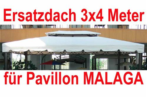 ersatzdach 3x4 m f r garten pavillon malaga ebay. Black Bedroom Furniture Sets. Home Design Ideas