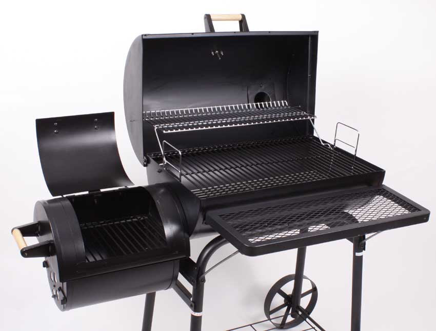 profi xl smoker bbq grillwagen holzkohle grill grillkamin. Black Bedroom Furniture Sets. Home Design Ideas