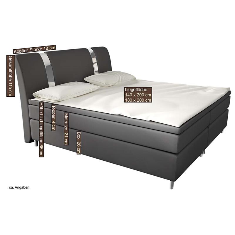 boxspringbett hotelbett led designerbett doppelbett. Black Bedroom Furniture Sets. Home Design Ideas