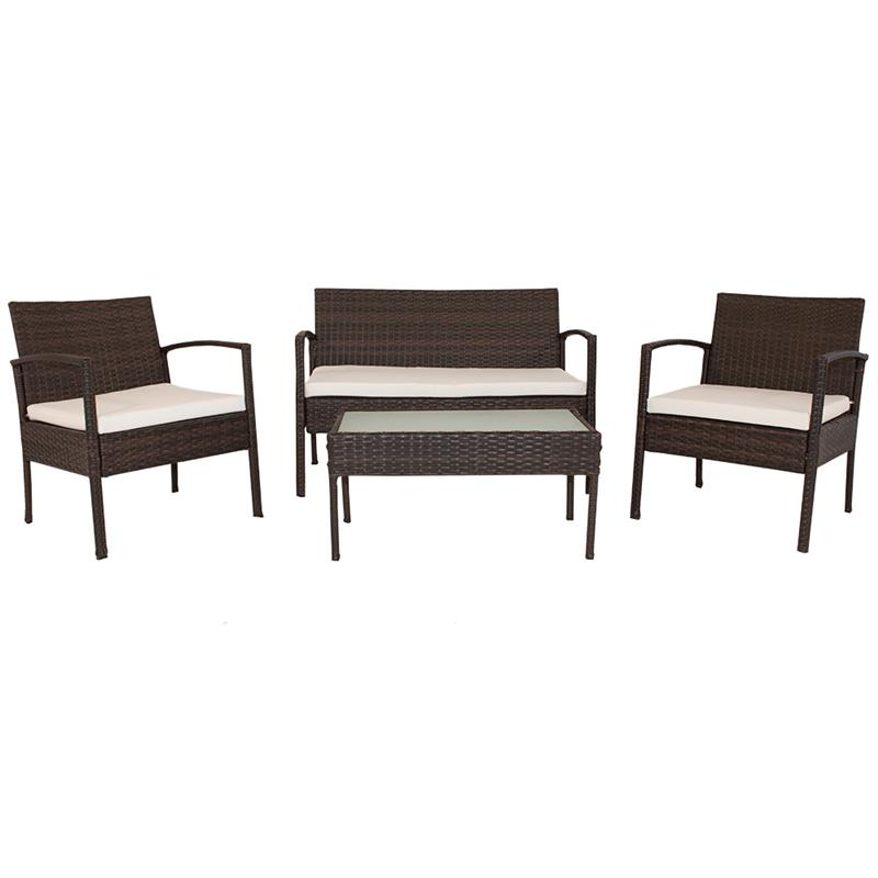 polyrattan garnitur gartenm bel lounge rattan gartenset sitzgruppe neu. Black Bedroom Furniture Sets. Home Design Ideas