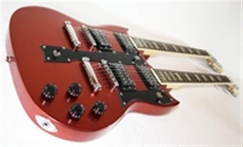 MPM E-Gitarre Double Neck in 3 Farben