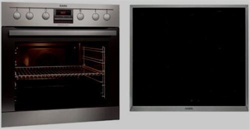 herd set aeg competence 50 3 edelstahl mit induktionskochfeld ab lager ebay. Black Bedroom Furniture Sets. Home Design Ideas