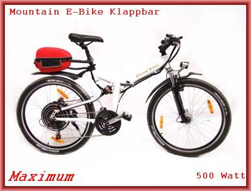 elektrofahrrad mtb klapprad faltrad e bike 500 watt 18gang. Black Bedroom Furniture Sets. Home Design Ideas