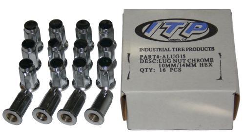16x-ITP-Radmuttern-10-x-1-25-Flachbund-fuer-Quad-ATV