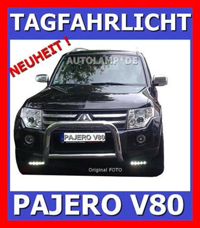 led tagfahrlicht scheinwerfer mitsubishi pajero v80 neu ebay. Black Bedroom Furniture Sets. Home Design Ideas