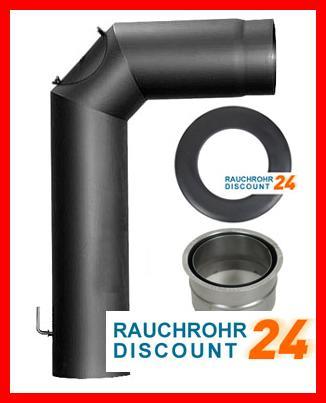 rauchrohr ofenrohr rauchrohrset mit drosselklappe 150mm ebay. Black Bedroom Furniture Sets. Home Design Ideas