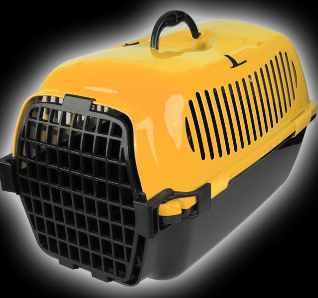 Reise Box Hunde Katze Haustier Transportbox orange13303