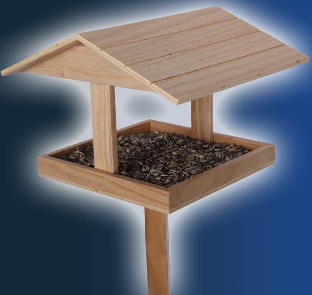 vogelfutter haus vogelhaus mit futterspender und st nder 131cm 1341 ebay. Black Bedroom Furniture Sets. Home Design Ideas
