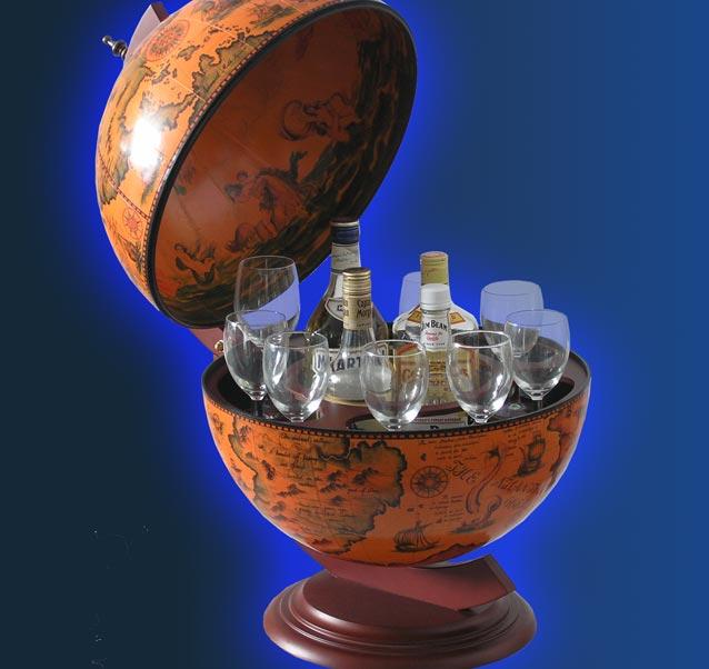 globus bar handarbeit unikat globusbar 56cm 5320 ebay. Black Bedroom Furniture Sets. Home Design Ideas