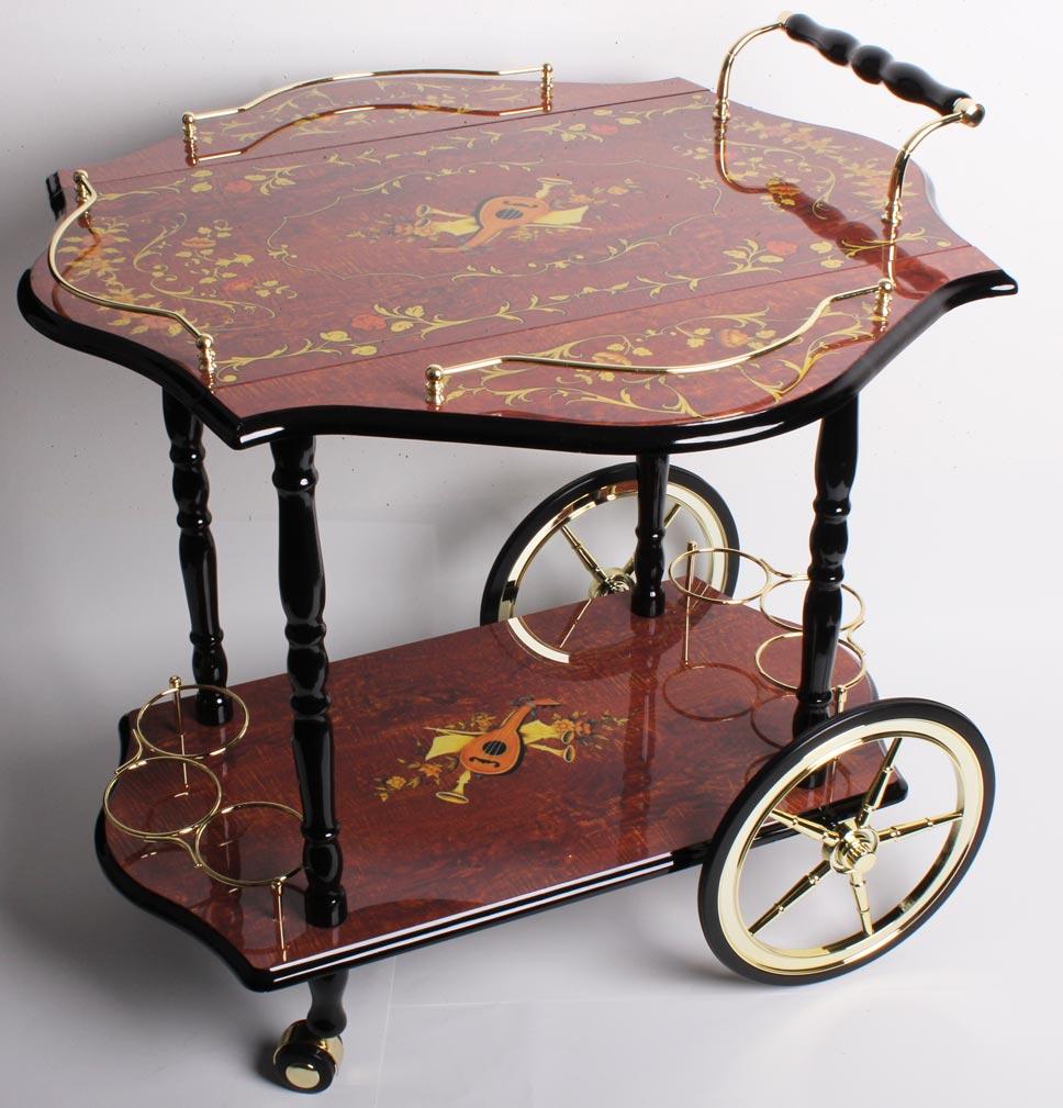 deluxe profi teewagen bar globusbar hausbar trolley. Black Bedroom Furniture Sets. Home Design Ideas