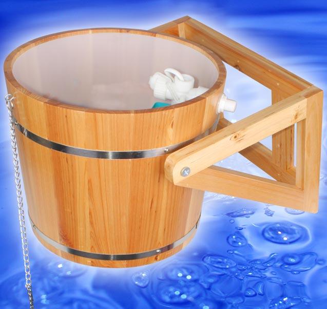 sauna pool bad schwall dusche 10l k bel 9282 ebay. Black Bedroom Furniture Sets. Home Design Ideas