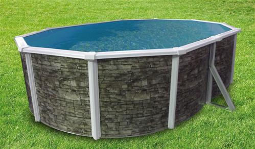 pool oval becken 4 9x3 7x1 2m steindekor stahlwand schwimmbecken schwimmbad ebay. Black Bedroom Furniture Sets. Home Design Ideas