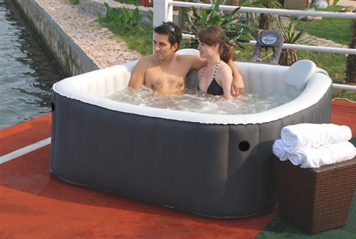 Whirlpool outdoor aufblasbar  Whirlpool aufblasbar 4P Spa Jacuzzi Pool Badewanne In-Outdoor mit ...