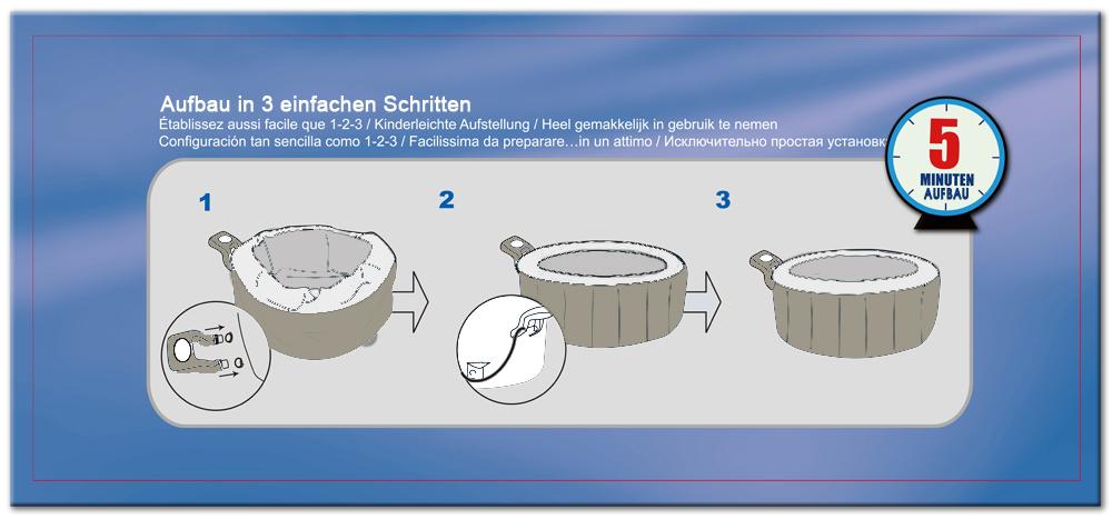 whirlpool aufblasbar 4 spa jacuzzi pool badewanne in. Black Bedroom Furniture Sets. Home Design Ideas