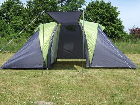 4 5 6 mann familienzelt campingzelt camping zelt sierra 6 2 kabinen 3000 mm ebay. Black Bedroom Furniture Sets. Home Design Ideas
