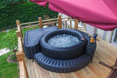 luxus whirlpool aqua spa aufblasbar badewanne in outdoor pool wellness ebay. Black Bedroom Furniture Sets. Home Design Ideas