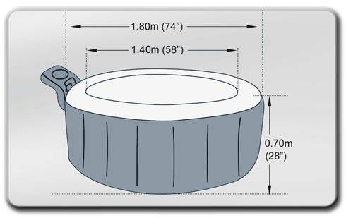 luxus jacuzzi in outdoor whirlpool mspa aufblasbar neu ebay. Black Bedroom Furniture Sets. Home Design Ideas