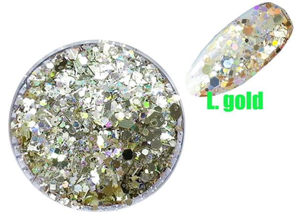 1x d schen glitter puder pailetten hexagon gold shimmer agp 129p 2. Black Bedroom Furniture Sets. Home Design Ideas