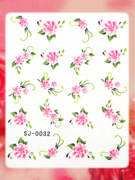 nail art wasser sticker blumen malerei design sj 0032 ebay. Black Bedroom Furniture Sets. Home Design Ideas