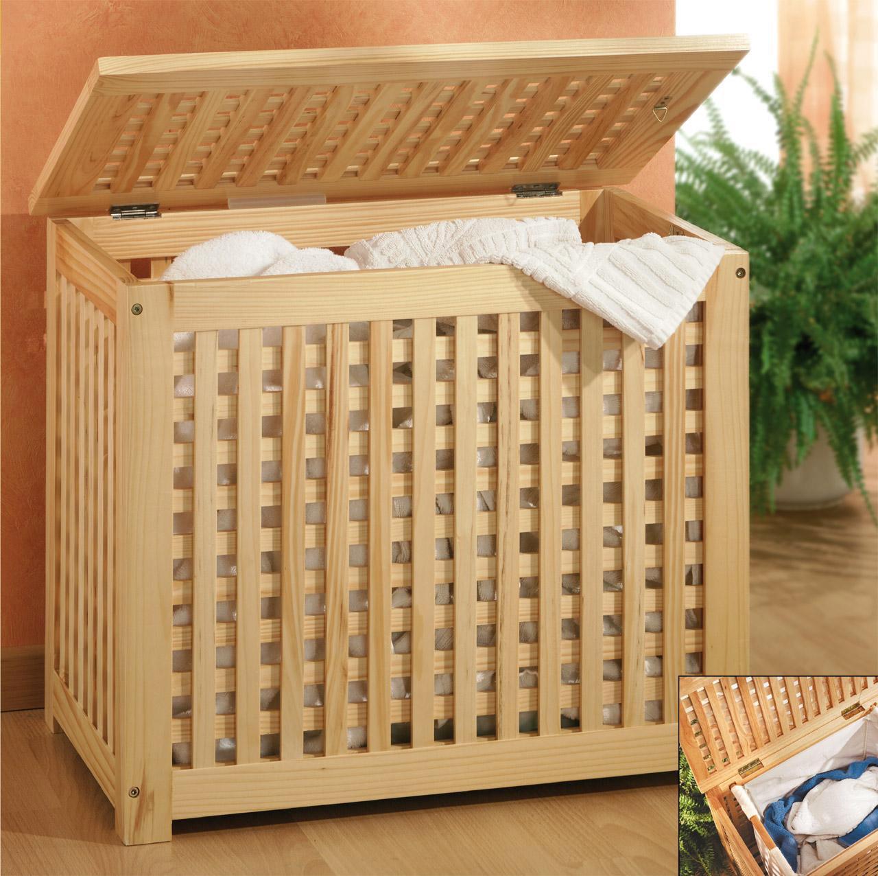 holz w schetruhe w schetonne holztruhe mit leinensack ebay. Black Bedroom Furniture Sets. Home Design Ideas