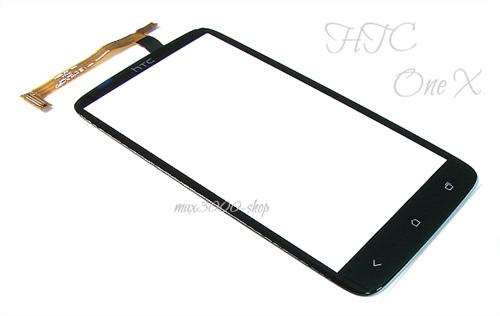 Original HTC One X G23 Touchscreen Displayglas schwarz