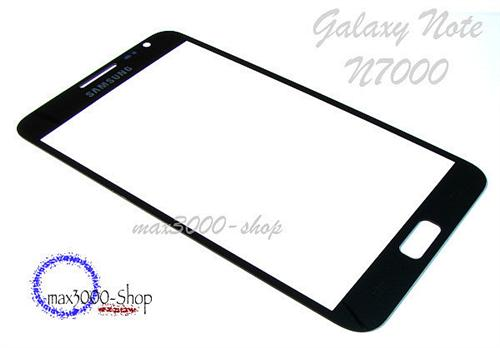 Original Samsung Galaxy Note N7000 Touchsreen Displayglas schwarz